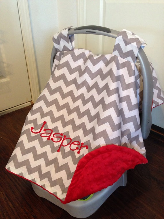 Personalized Car Seat Canopy Boy Or Girl Carseat Cover