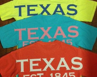 Texas spirit short sleeve t-shirt Texan pride lone star state shirt