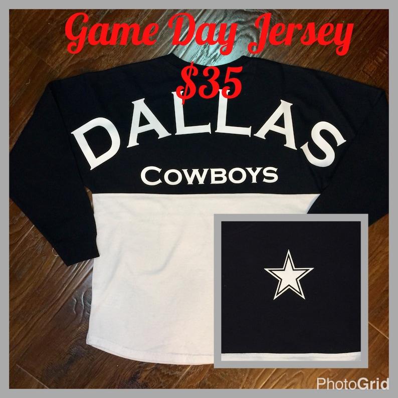 77fd84c3a6a Dallas Cowboys women jersey football team spirit t-shirt | Etsy