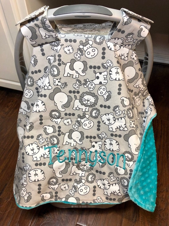 Nursing Cover Up Sae Multi Use Breastfeeding Cover Jungle Carseat Canopy Personalized Car Seat Cover Boys Safari Baby Gift