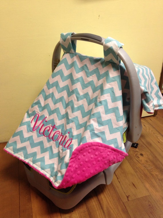 Items Similar To Monogram Carseat Canopy Boy Or Girl