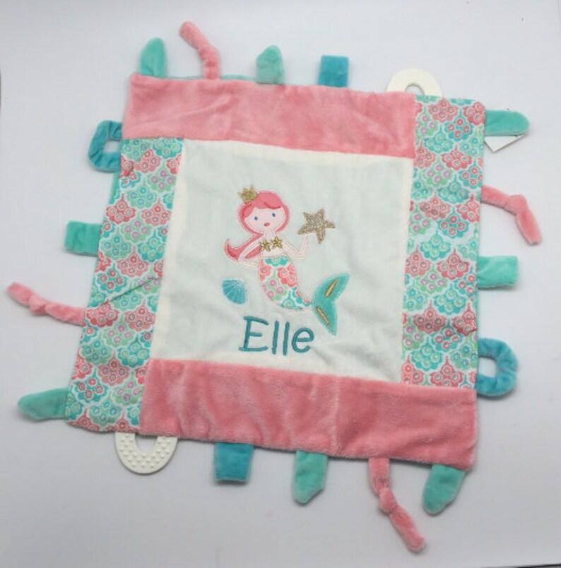 Personalized Baby girl gift blankie toy minky blanket | Etsy