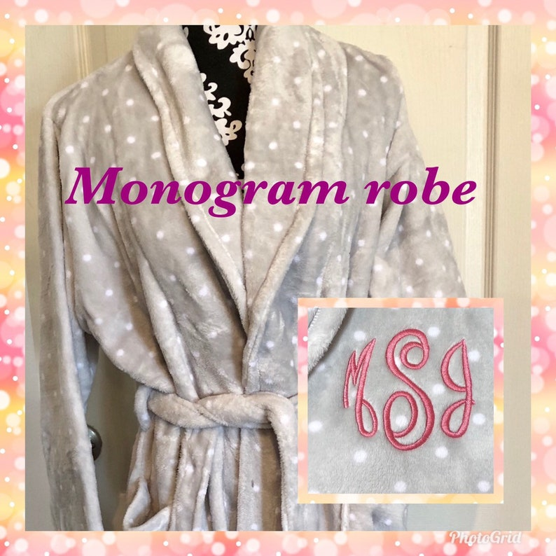 Monogrammed Ladies Robe Personalized Christmas gifts for mom  1968e2b04
