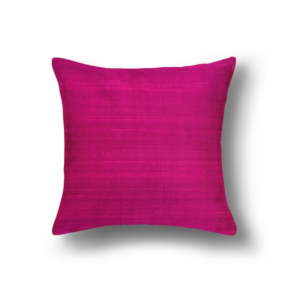 Magenta Solid Color Raw Silk Pillow Cover Dupion Silk Pillow Etsy Gorgeous Raw Silk Pillow Covers