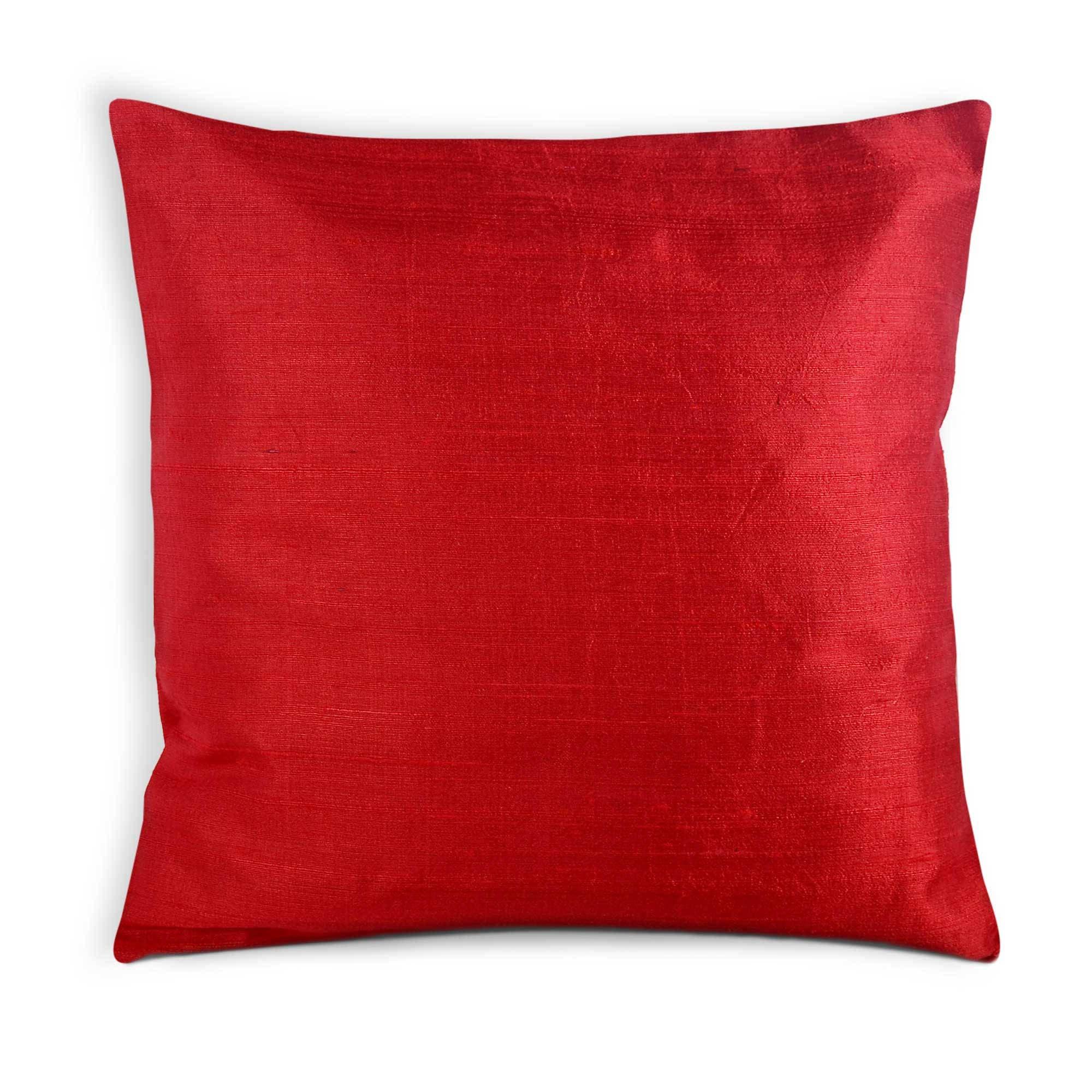 code  D 49 Dark RedSangria Dupioni pure silk cushion cover  sham 20 X 20