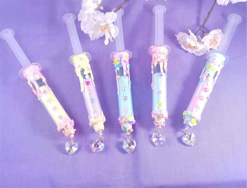 Sprinkle Drip Syringe Necklace Menhera pastel goth decora image 0