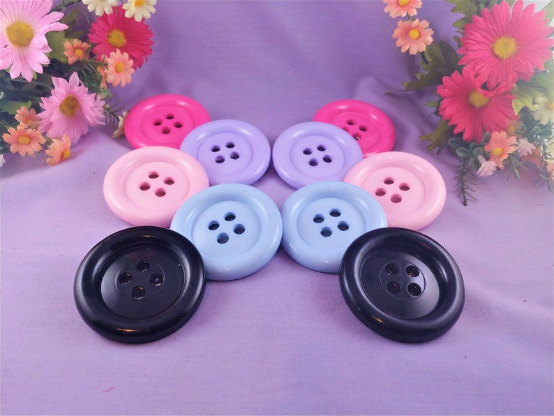Jumbo Button 2 way hair clip pin Giant button kawaii hair image 0