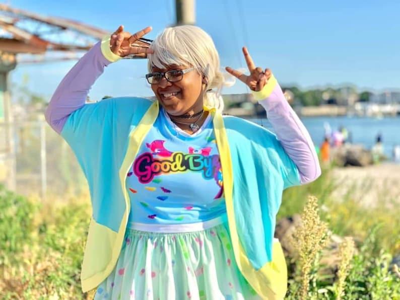 Pastel Colorblock Sweater Plus Size fairy kei decora image 0
