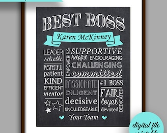 boss gift best boss chalkboard printable boss christmas boss appreciation unique boss gift personalized digital file manager gift bt2