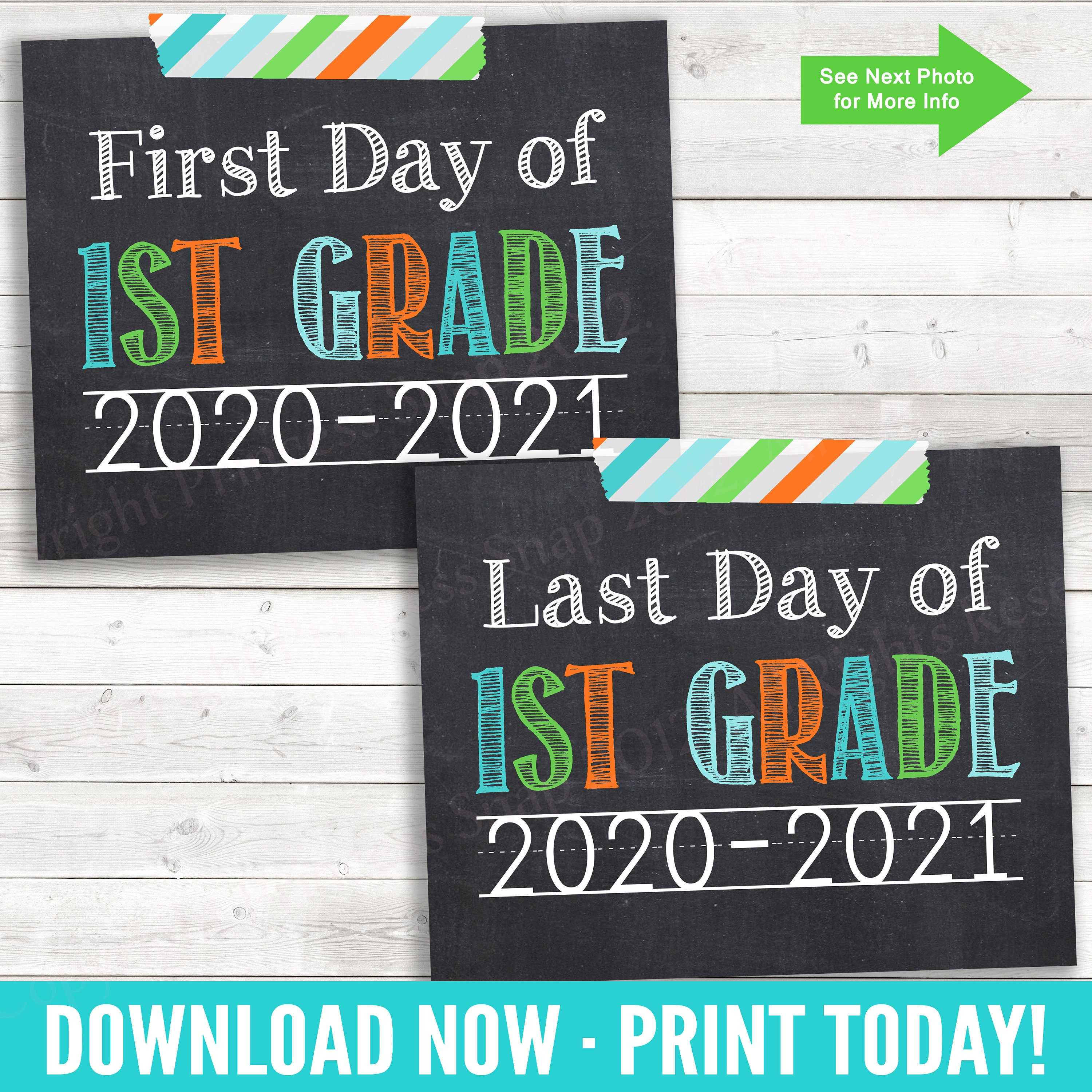First and Last Day of 1st Grade 2020-2021 1st Day School ...