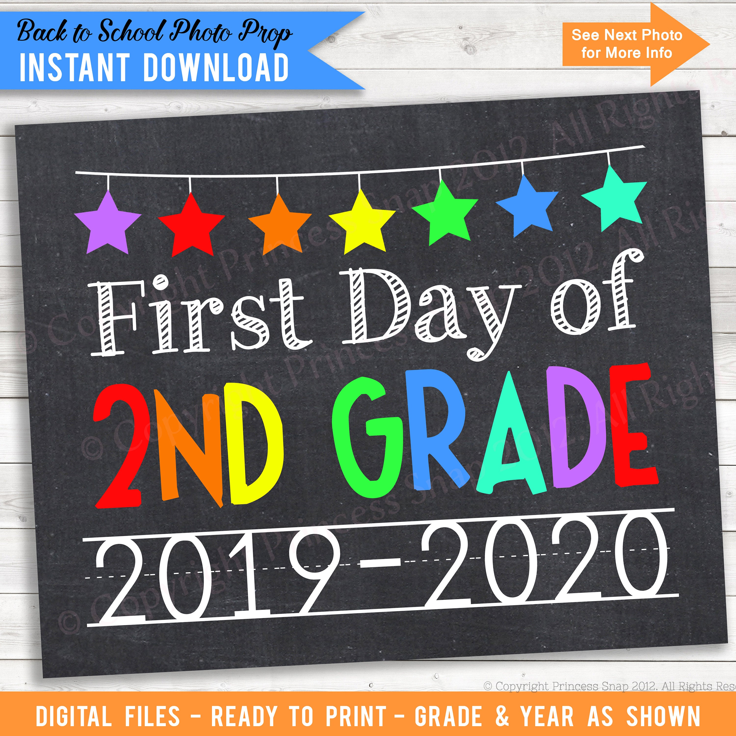 picture about First Day of Second Grade Printable Sign identified as Very first Working day of 2nd Quality, 2019-2020, Higher education Picture Prop, Rainbow Moment Quality, 1st Working day College or university, 1st Working day 2nd, Printable Indication, 8\
