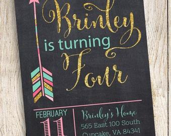 Arrow Birthday Party Invitation, Arrow Party Invitation Digital File 5x7 or 4x6,  Arrow Birthday Invitation, Arrow Invitation