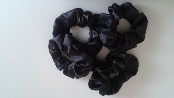 5 Pack Satin Hair Scrunchies Ready to Ship Ponytail Holders  ef244f86bdc