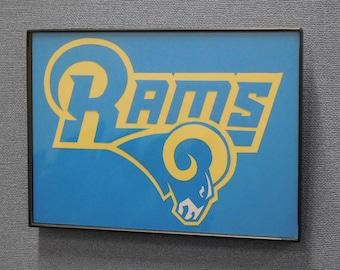 Los Angeles Rams Wall Art Hand Made