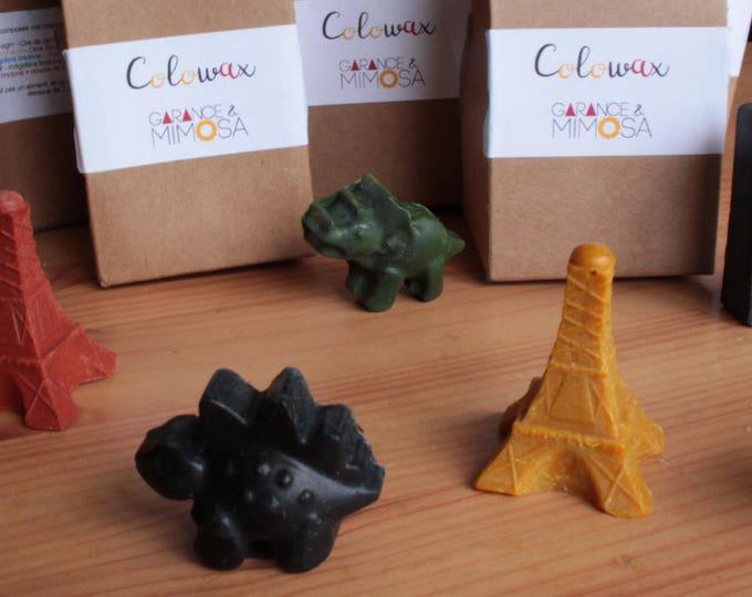 Lot surprise de 6 crayons en cire bio et vegan