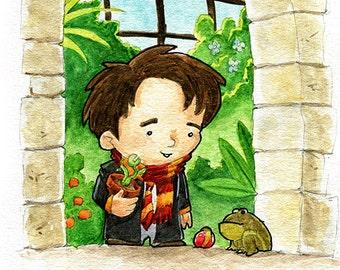 Neville Longbottom Fan Art Watercolor Print