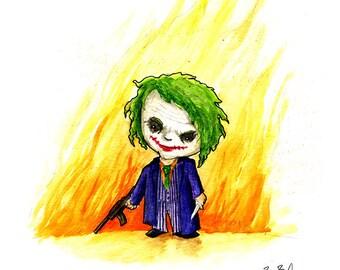 Joker Watercolor Print