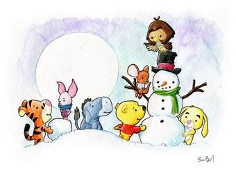 Winnie Wonderland Watercolor Print