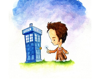 The Doctor is In Watercolor