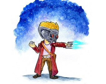 Star Lord Peter Quill Watercolor Print