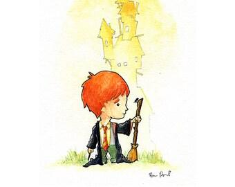 Ron Weasley Watercolor Print