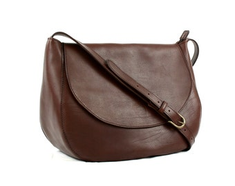Made in Italy Brown LEATHER SHOULDER BAG/Bags and purses/Woman crossbody bag/Handbags/Brown leather bag/Tuscan leather bag/For her