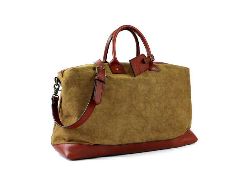 WEEKENDER leather and canvas BACKPACK image 0