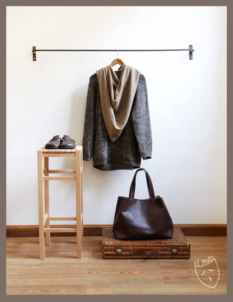 Brown full grain leather bag Totes Made in italy vegetable image 0