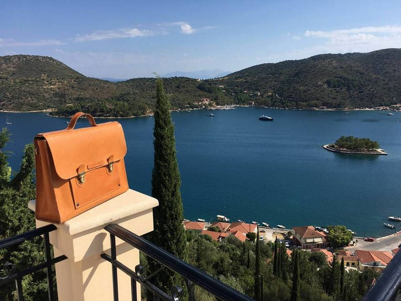 BRIEFCASE in full grain leather handmade in Italy image 0