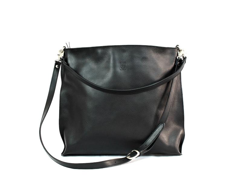 Black SHOULDER LEATHER BAG image 0