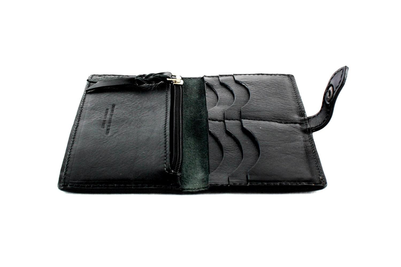 3d468efcd3 Portafoglio in pelle neroRegalo per leiPortafoglio fatto a   Etsy