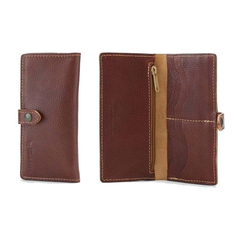 BROWN LEATHER WALLET for Woman image 0