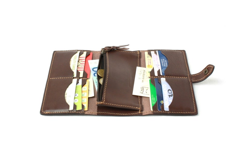Woman minimalist leather WALLET accessories Made in italy image 0