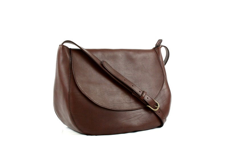 Made in Italy Brown LEATHER SHOULDER BAG/Bags and purses/Woman image 0