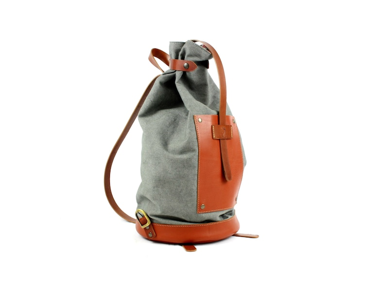 Made in Italy LEATHER BACKPACK  CANVAS backpack  Woman image 0