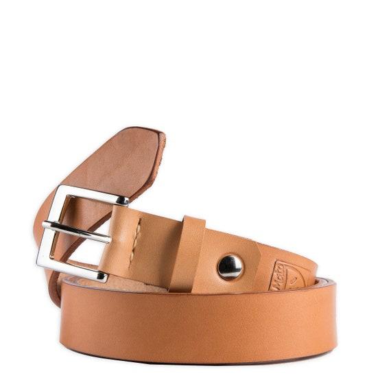 En ceinture de cuir pour hommes personnalisé naturel tanné   Etsy f3d2e830f87