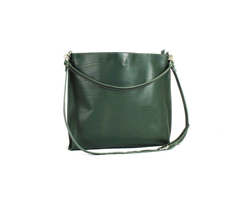 Woman green LEATHER CROSSBODY BAG image 0
