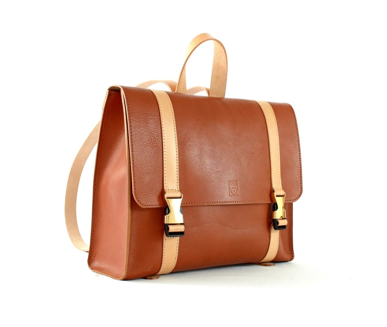 WOMAN LEATHER BACKPACK in Vintage style image 0