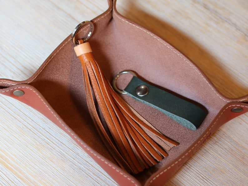 POCKET EMPTIER in full grain red-brown italian LEATHER image 0