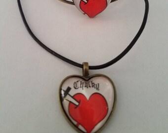 tiff's chucky tattoo jewelry set