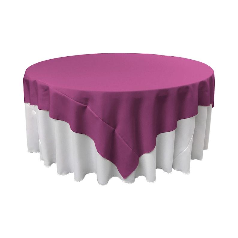 Made in USA LA Linen Square Polyester Poplin Tablecloth 72 x 72