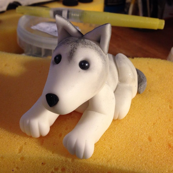 Sugar Dog Cake Topper Can Be Customised To Create Different Etsy