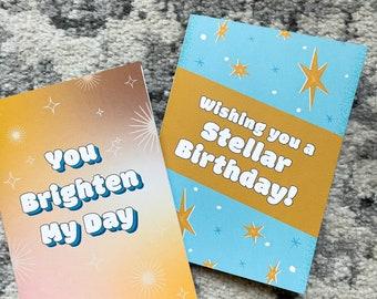 Stellar Birthday - 5x7 Blank Card