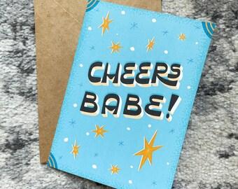 Cheers Babe! - 5x7 Blank Card