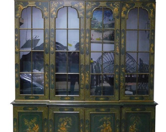 Charmant Asian Style China Cabinet, Breakfront, Chinoiserie, Hunter Green, 98.5u2033H,  Shipping/Delivery Cost Extra, Contact For Quote, PA5268