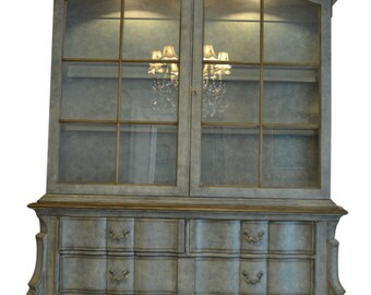 Exceptionnel Baker French Provincial Style China Cabinet, Lighted, Painted, 2 Door,  94u2033H. PA5111AD, Shipping Not Free!!! Read Ad!!!