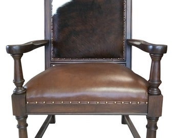 Attrayant New Cowhide, Leather Accent Armchair, Retails 900, Shipping/Delivery Cost  Extra, Contact For Quote, PA5220