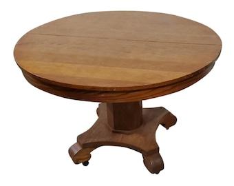 Vintage Round Oak Table Etsy
