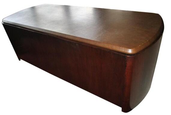 Vintage Dunbar 2070 Depolo Mid Century Modern Executive Desk Etsy