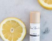 lemon organic lip balm refresh moisturize